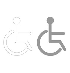 Sign of the disabled the grey color icon vector