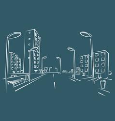 Sketch of city street vector