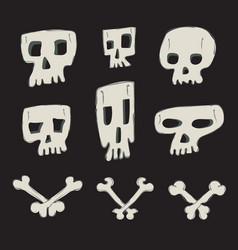 skull collection vector image