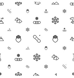 snow icons pattern seamless white background vector image