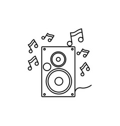 Speaker music notes icon vector