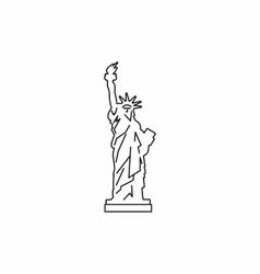 Statue of liberty icon outline style vector image vector image
