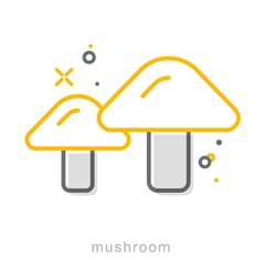 Thin line icons Mushroom vector image
