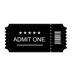 Ticket icon ticket flat on blank background vector