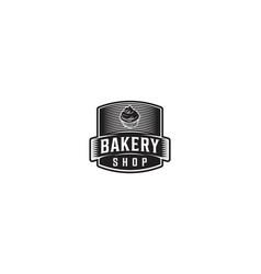vintage badge bakery logo vector image