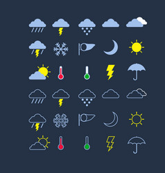 weather flat icon vector image