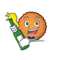 with beer cookies mascot cartoon style vector image