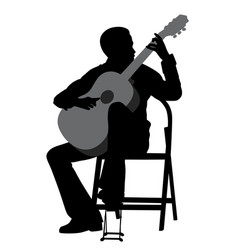 young man acoustic guitar player vector image