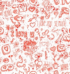 seamless background for Valentines day vector image vector image