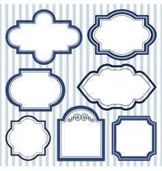 set of design frames vector image vector image