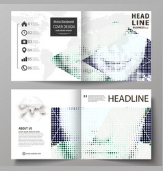 business templates for square design bi fold vector image vector image