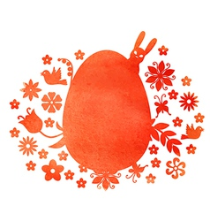 red egg mix vector image vector image
