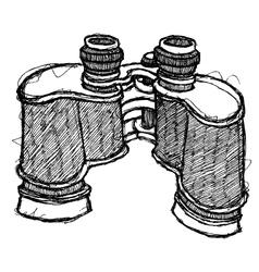 scribble series - binoculars vector image vector image
