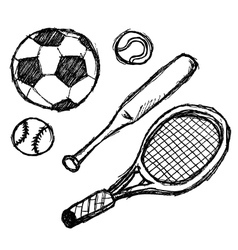 scribble series - sports vector image vector image