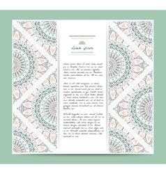 Set of romantic circular greeting gentlecards and vector image