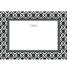 bouquet frame vector image vector image