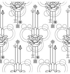 Hamsa hand of fatima seamless pattern vector