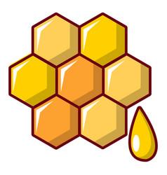 Honey comb icon cartoon style vector