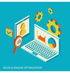 Isometric design modern concept of website vector image vector image