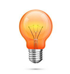 lamp idea icon object red light white background vector image