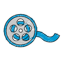Reel scene to projection the movie in the theater vector
