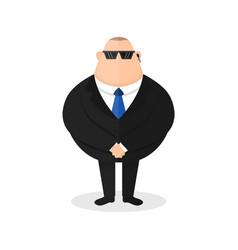 strong bodyguard security guard vector image