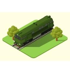train locomotive isometric vector image vector image