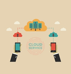 171cloud service vector image