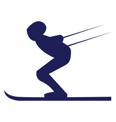 a skier in ski costume or color vector image