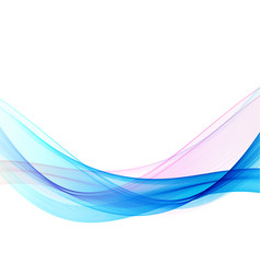 abstract blue wave background white vector image