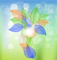 Abstract Leaves Concept vector image
