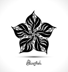 Abstract Starfish vector image