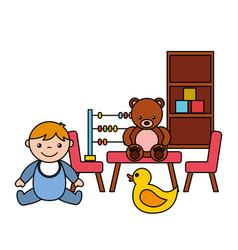 Baboy bear abacus duck kid toys vector