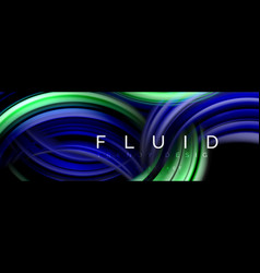 Background abstract design flowing mixing liquid vector
