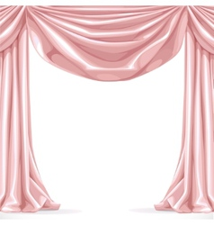 Big pink curtain isolated on a white background vector