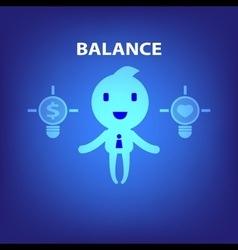 business cartoon character balance concept vector image