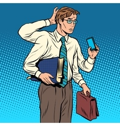Business concept a lot cases multi-armed vector