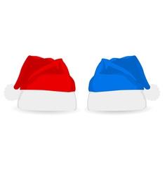 christmas santa hats vector image vector image