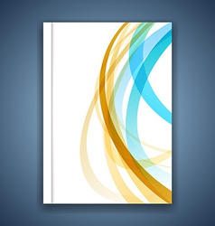 Colorful line stripe layout brochure cover modern vector
