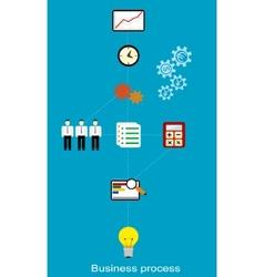 Conceptual business process vector image