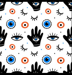 Decorative eyes icons evil eyes pattern vector
