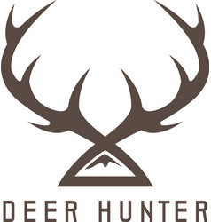 deer horns design templatehunting vector image