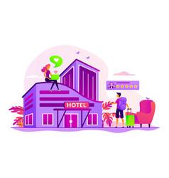Design hotel concept vector