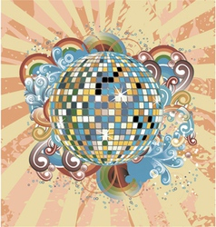 discoball with circles vector image