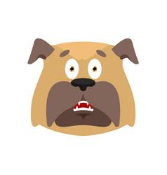 dog scared omg emotion pet oh my god emoji vector image