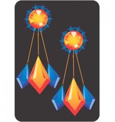 ear rings vector image