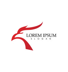 Falcon eagle bird logo template icons vector