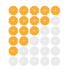 Five oranges rating icon evaluation of the hotel vector