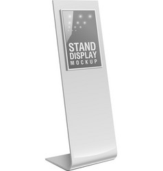 Freestanding information kiosk terminal stand vector