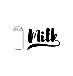 Fresh milk packaging container badge or label vector